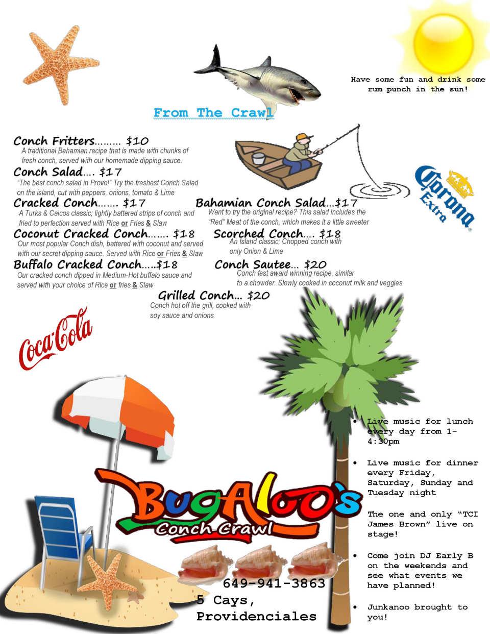 conch menu